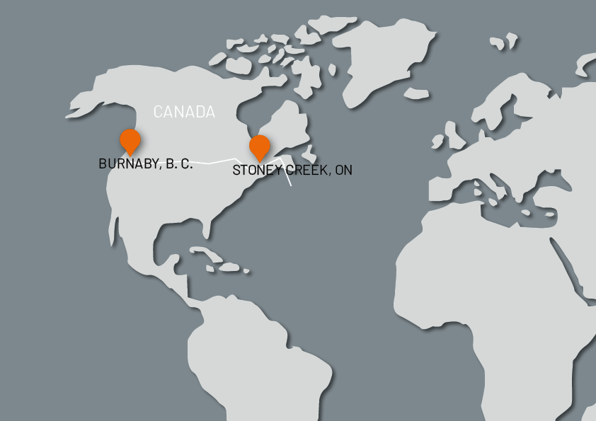 STANDORTE EN kanada